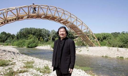 shigeru ban, paper bridge, cardboard bridge, structural cardboard, bridge
