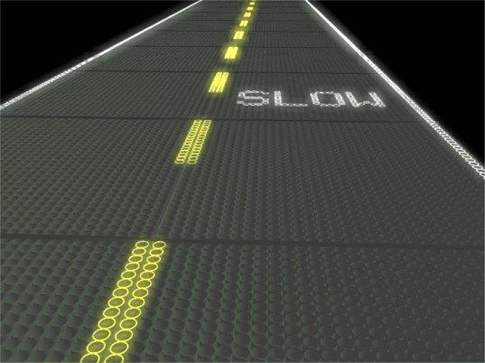 carretera solar, energía solar, vidrio, PV