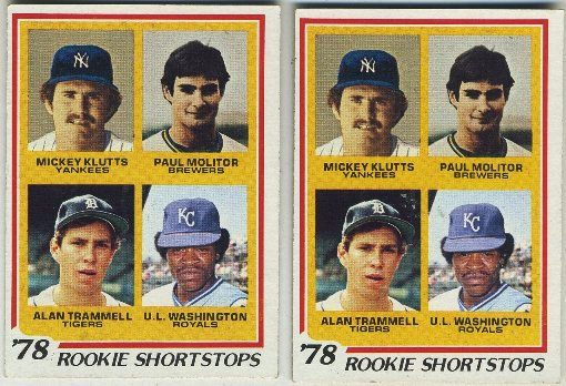 1978 Topps Paul Molitor Rookie Card