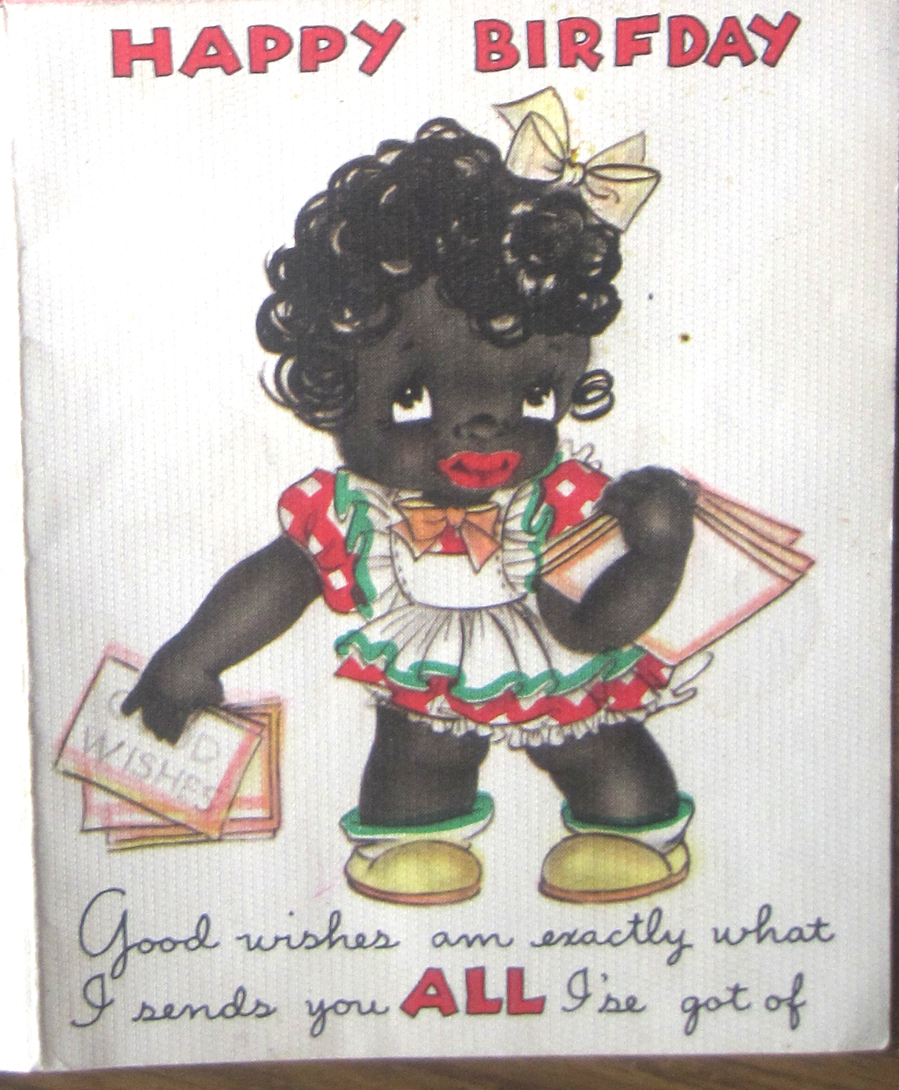 Racist greeting card collecting inherited values racist greeting card collecting george sent in this vintage greeting card m4hsunfo