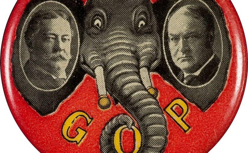 Antique Smiling G.O.P. Elephant