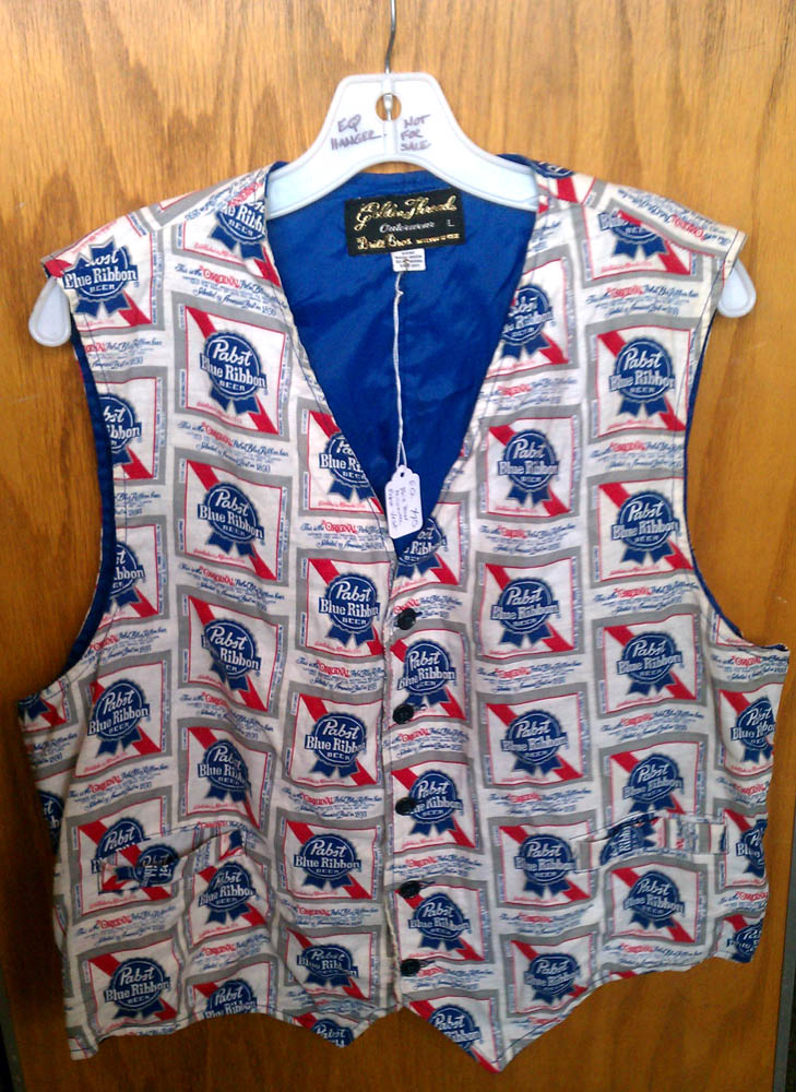 Vintage Pabst Blue Ribbon Beer Vest Inherited Values