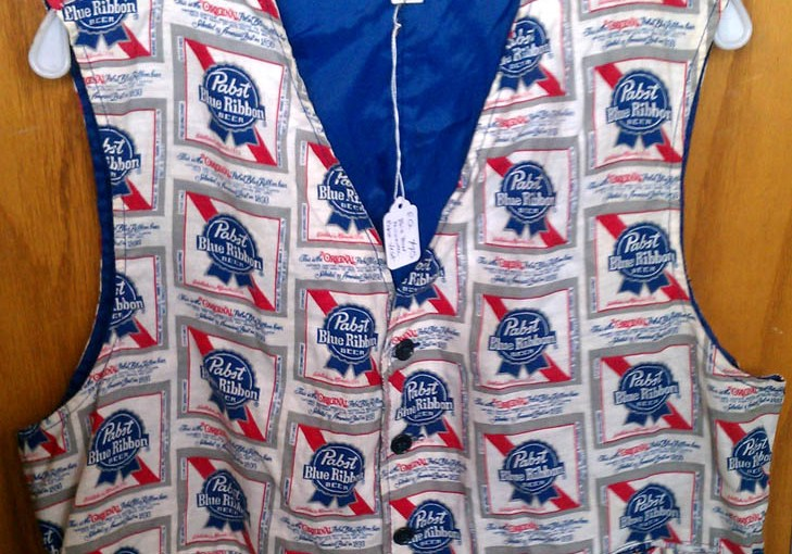 Vintage Pabst Blue Ribbon Beer Vest