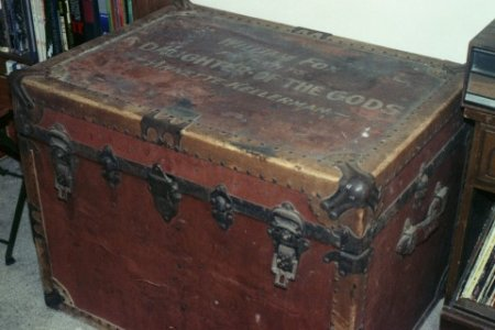 antique trunk that belonged to annette kellerman