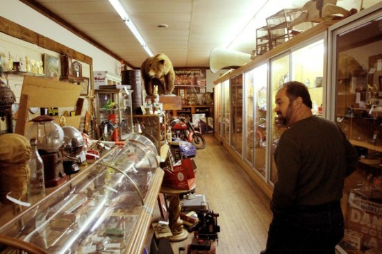 frank fritz in his antique shop