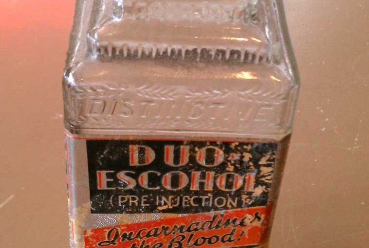 Vintage Art Deco Glass Embalming Bottle