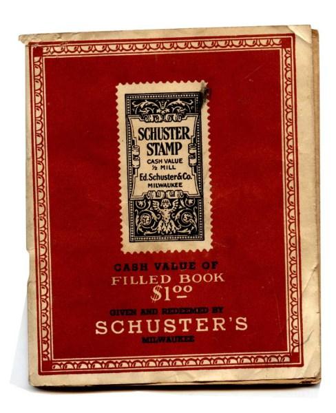 Vintage Schuster Stamp Book