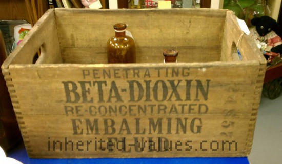 Vintage Embalming Fluid Crate
