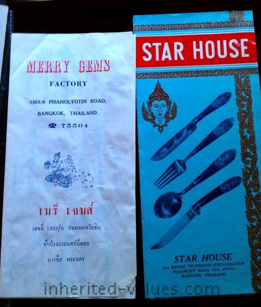 vintage 1960s thailand brochures