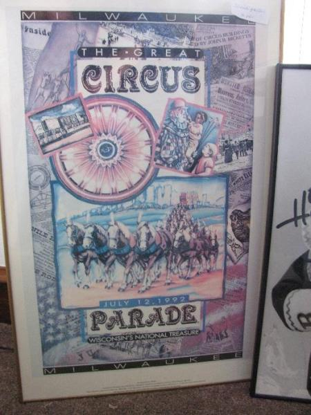 1992 milwaukee great circus parade poster