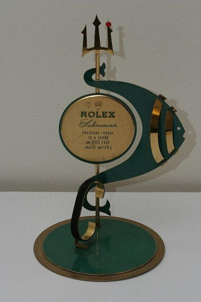 rolex submariner vintage posiden trident ad display