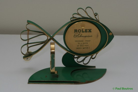 vintage rolex submariner advertising fish