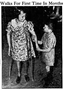Dorothy Hess Walks For First Time In Months