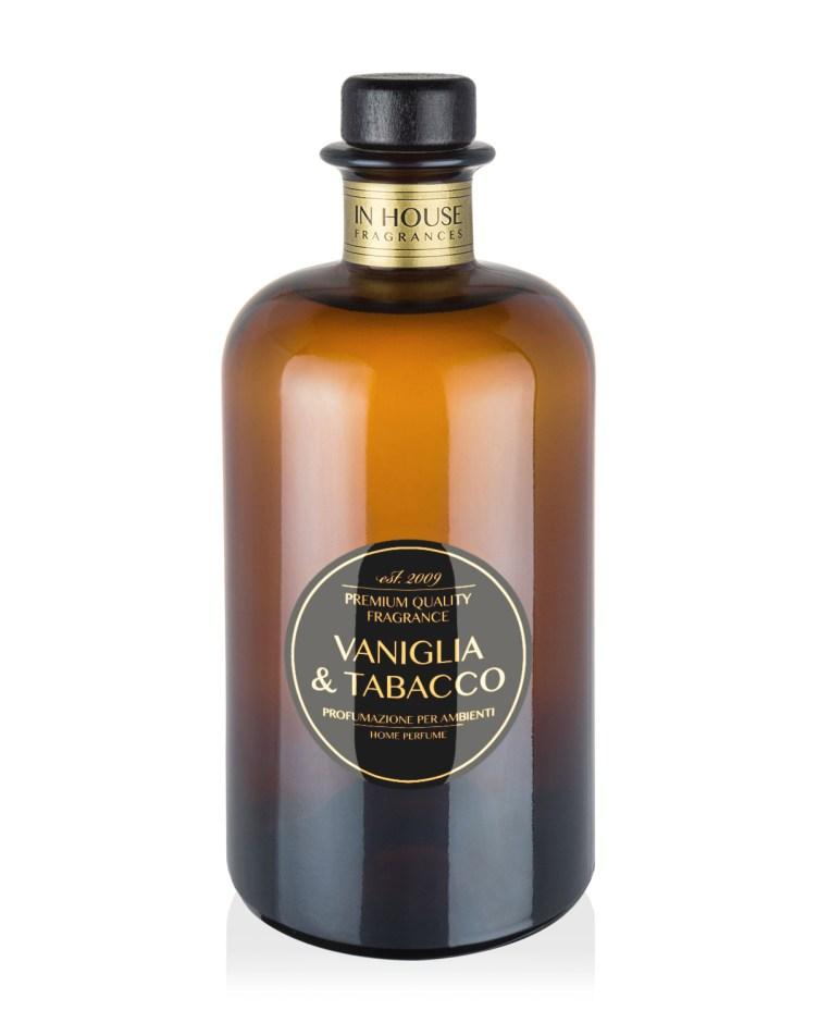 Vaniglia & Tabacco - Diffusore vetro 500ml - In House Fragrances Premium