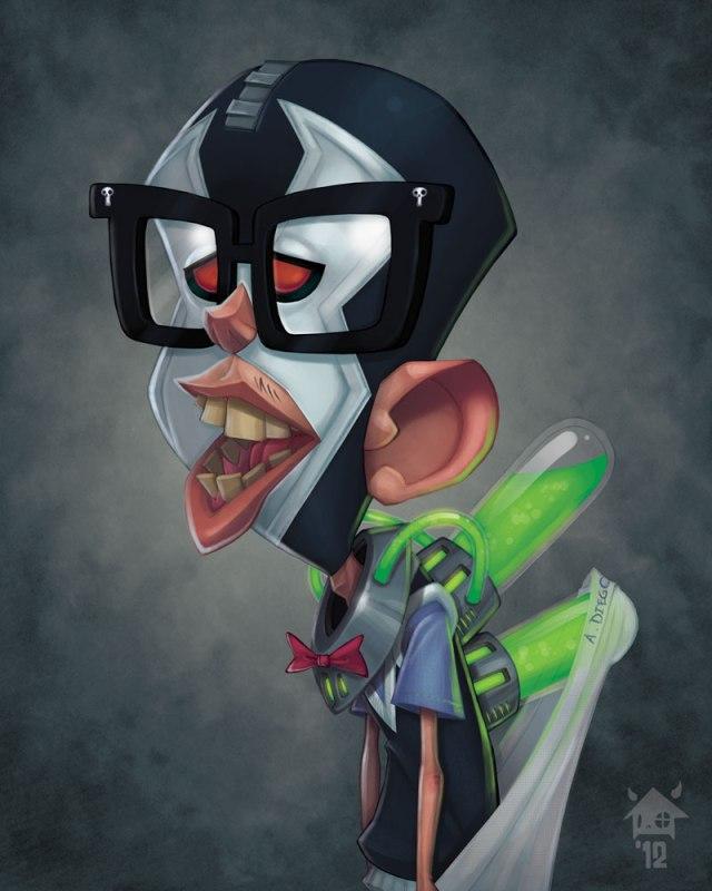 Ilustrações de Jovens super vilões na escola: Bane, o CDF