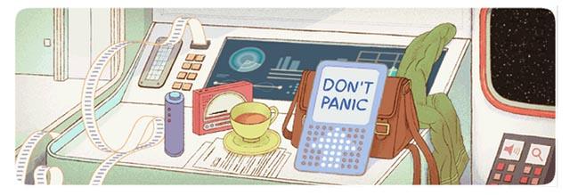 Google: Doodle de aniversário de Douglas Adams
