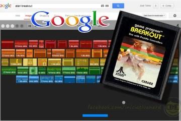 Easter Egg do Google homenageia clássico jogo da Atari