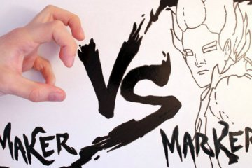 Maker vs Marker: uma incrível luta entre criador e seu desenho