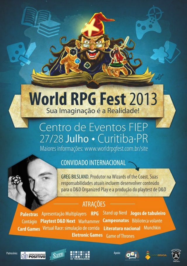 World RPG Fest 2013: Festival Internacional de RPG em Curitiba!