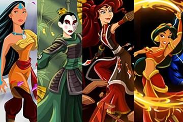 As Princesas Disney no mundo de Avatar: The Last Airbender