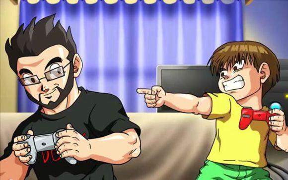 Robson, e seu filho, Rasdael, em versão Dragon Ball Z