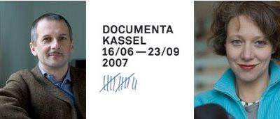 Fotografía de Buergel y Noack en Documenta