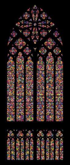 Imagen de las vidrieras de Gerhard Richter para la catedral de Colonia
