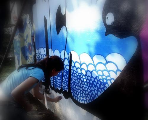 Imagen de la graffitera brasileña Nica