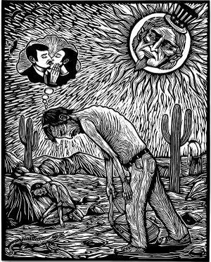Cartel de Artemio Rodriguez por los derechos de los inmigrantes
