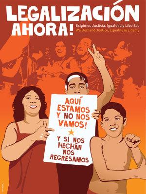 Cartel de Favianna Rodriguez por los derechos de los inmigrantes
