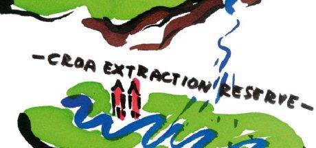 Dibujo de Marjetica Potrc sobre las granjas sostenibles en el PAC de Murcia
