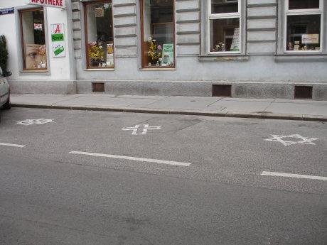 Foto del parking por religiones en Viena