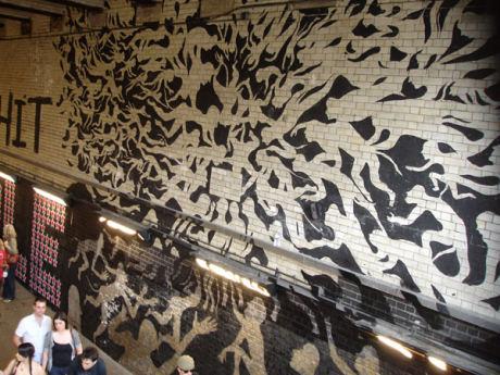 Imagen del mural Esperma de Sam3 en Londres