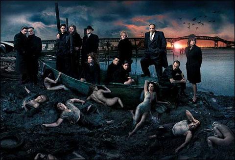 Los protagonistas de Los Sopranos