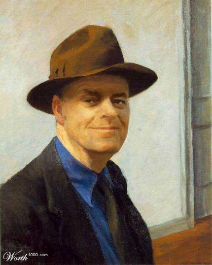 Cuadro de Jack Nicholson a la Edward Hopper