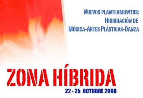 Cartel del festival Zona Híbrida en Teatro Pradillo de Madrid