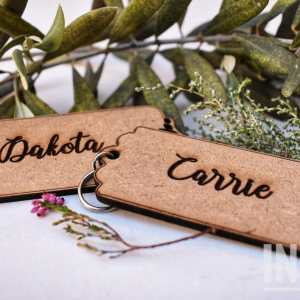 Customized name keyrings/tag