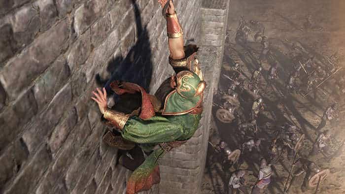 dynasty warrior 9 guan yu climbing