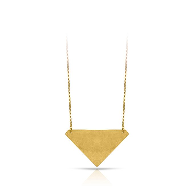 triangle necklace brass