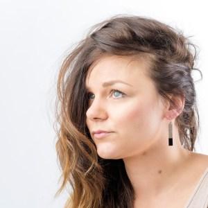 handpainted bar earrings