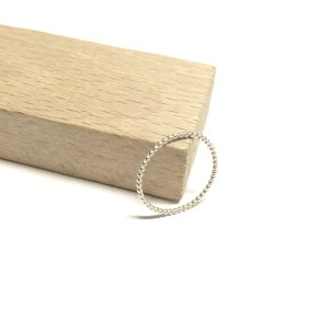 Basic mini ••• ring in sterling Silver (1,2mm)