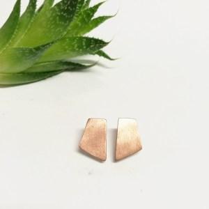 Copper geometric Studs