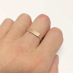 mini rectangle ring