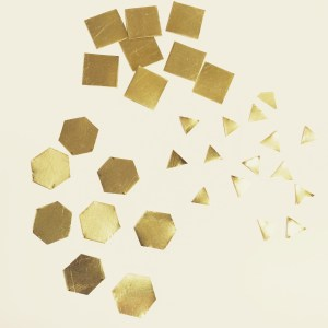 Hexagon Brass Earstuds