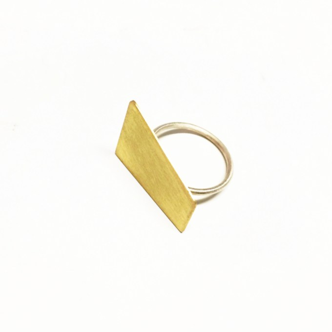 Sterling silver mixup geometric ring