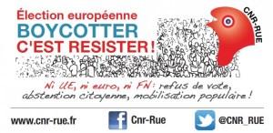 Decevez la Le Pen ! Avec le CNR-RUE, Boycottez l'euro-mascarade du 25 mai ! par Georges Gastaud