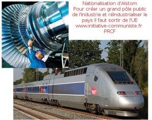 le PRCF soutient les travailleurs d'Alstom : nationalisons Alstom et créons un pôle public de l'industrie en sortant de l'UE