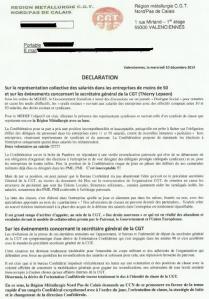 Fronde de classe à la CGT : réaction de la région métallurgie Nord/Pas de Calais