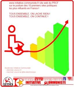 www.initiative-communiste.fr dans les 10 premiers sites politiques en France pour le 20e mois consécutif !