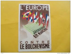 affiche nazie l'Europe contre le bolchevisme